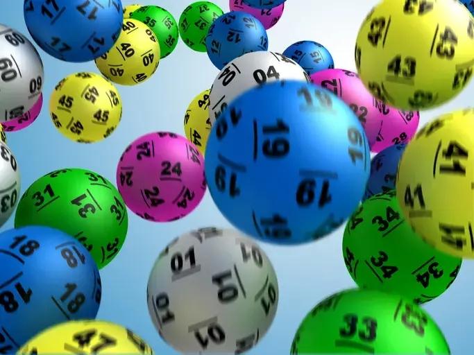 Lottery balls in machine