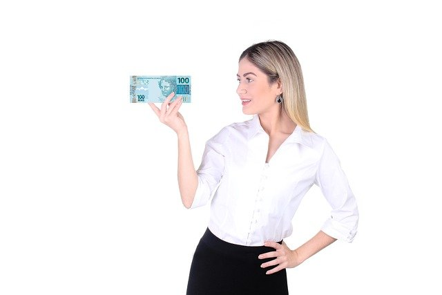 woman with money - money affirmations