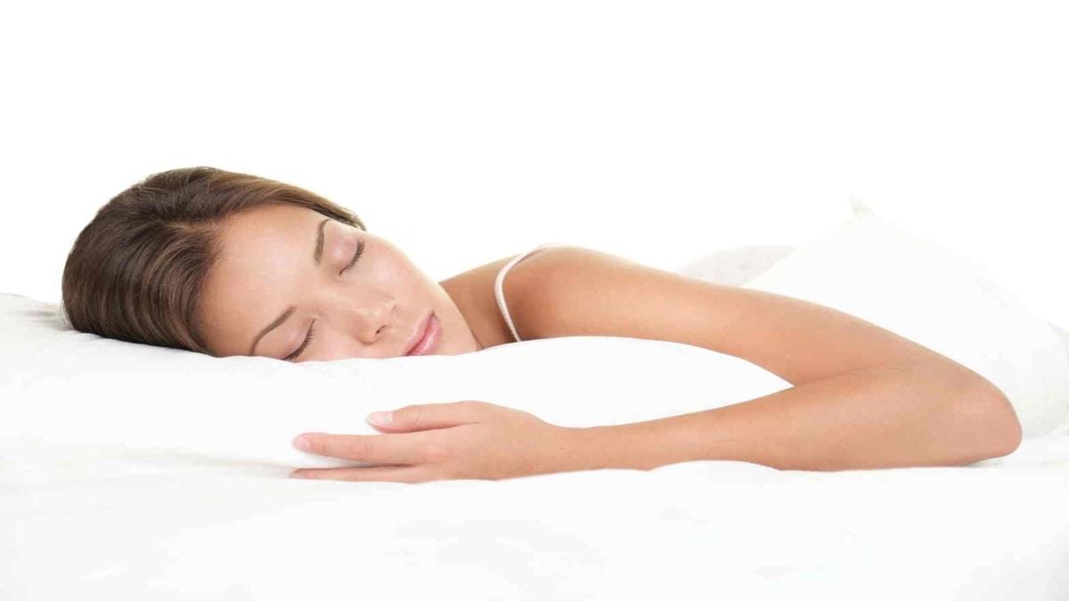 Woman asleep dreaming