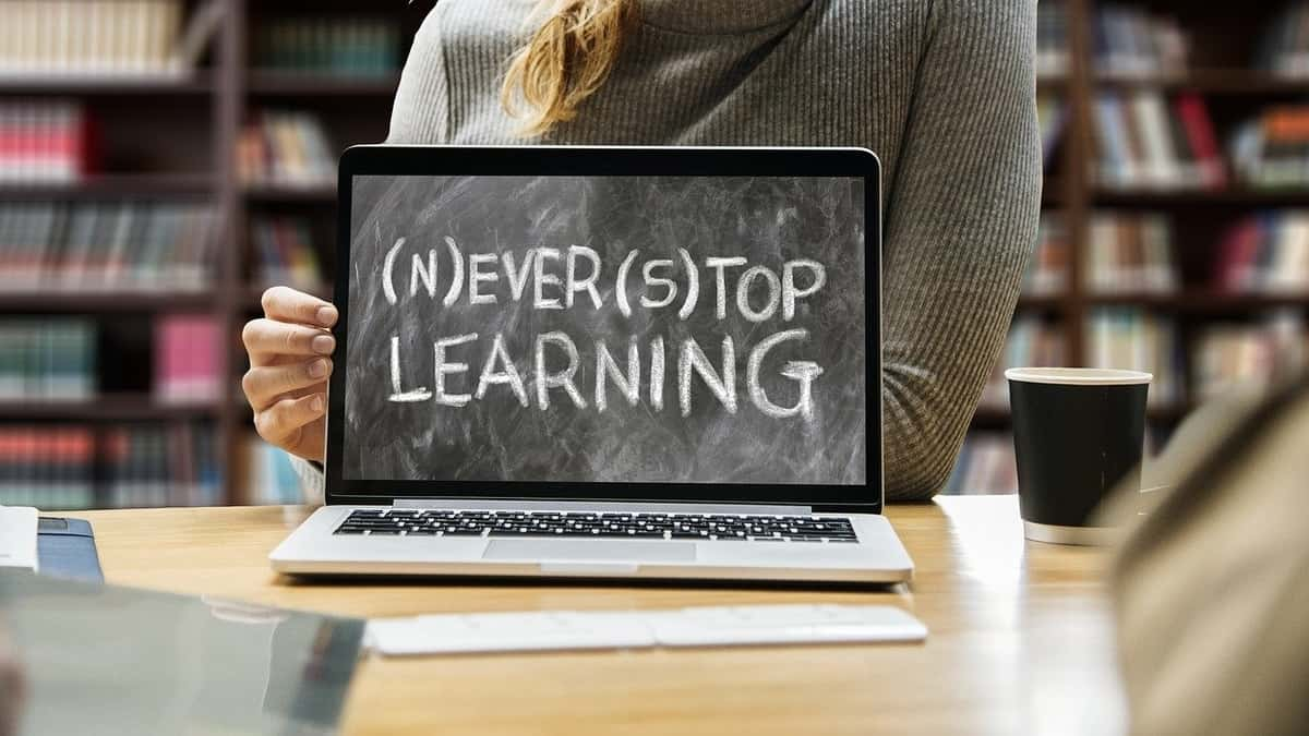 Improve Brain Power - never stop learning sign