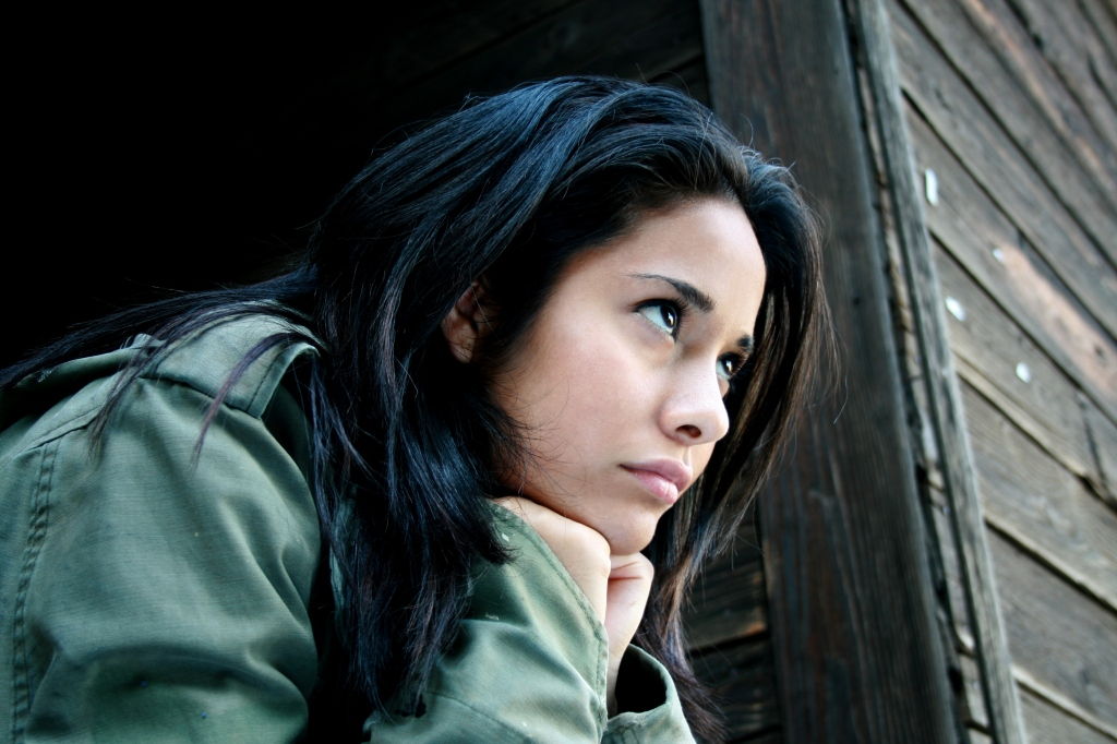 Woman broke up with boyfriend.